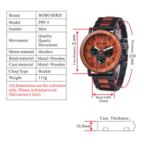 p09-3 technical specifications watch
