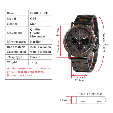q26-1 technical specifications watch