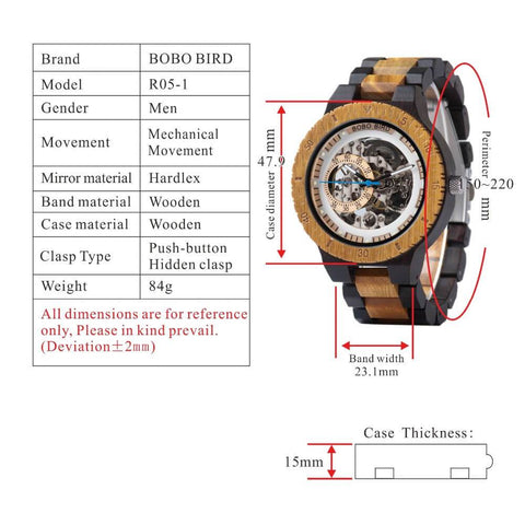 r05-1 technical specifications watch