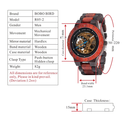 r05-2 technical specifications watch