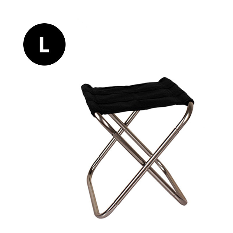 folding chair silver large