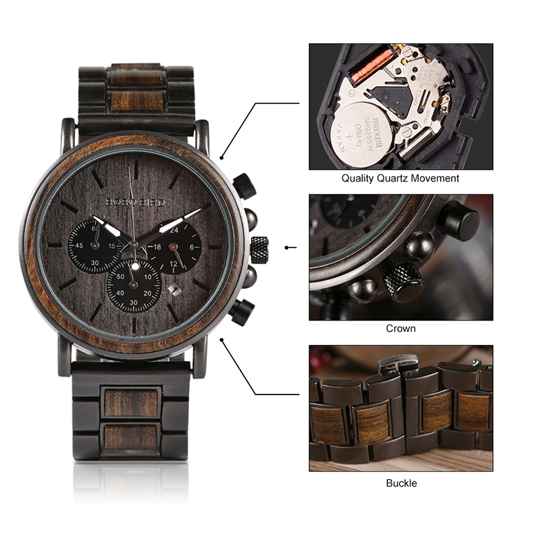 Wooden Watch Q26-1