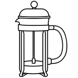 French Press by Gabriela Muñiz from the Noun Project