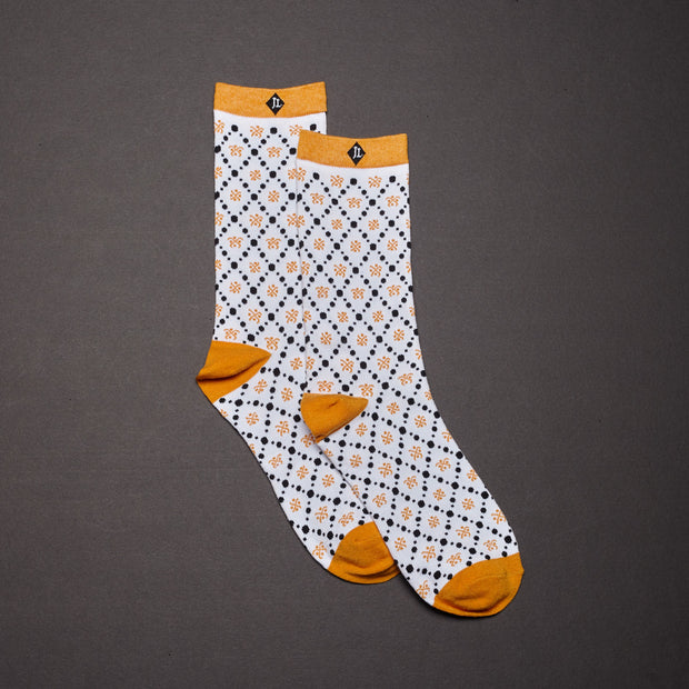 Crew Socks - Diamond / White
