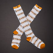 Crew Socks - Music / White