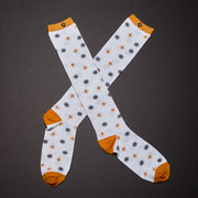 Knee High Socks - Starburst / White