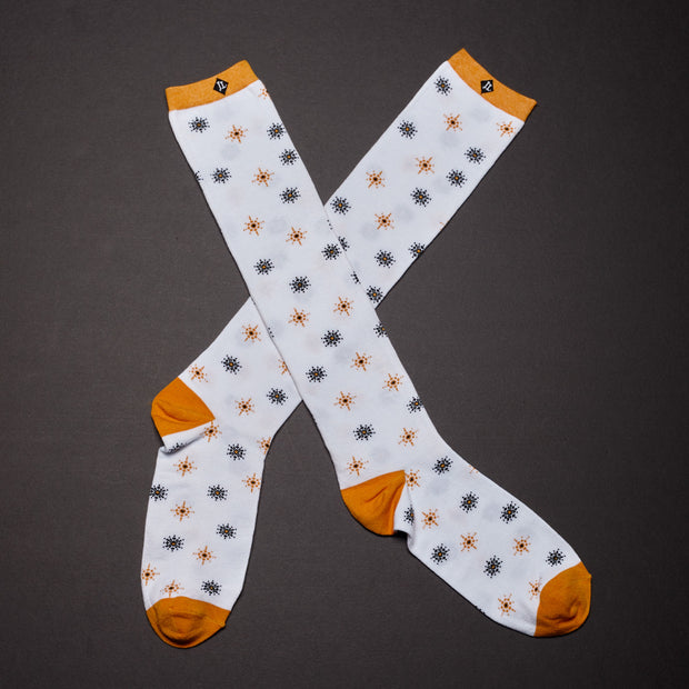 Men's Over Calf Socks - Starburst (Wholesale)
