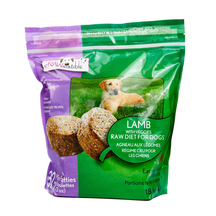 57g Boneless Lamb Mini Patties for Dogs