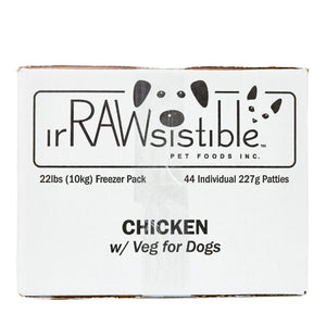 Bone-In Chicken Patties for Dogs (10kg Freezer Pack Box)