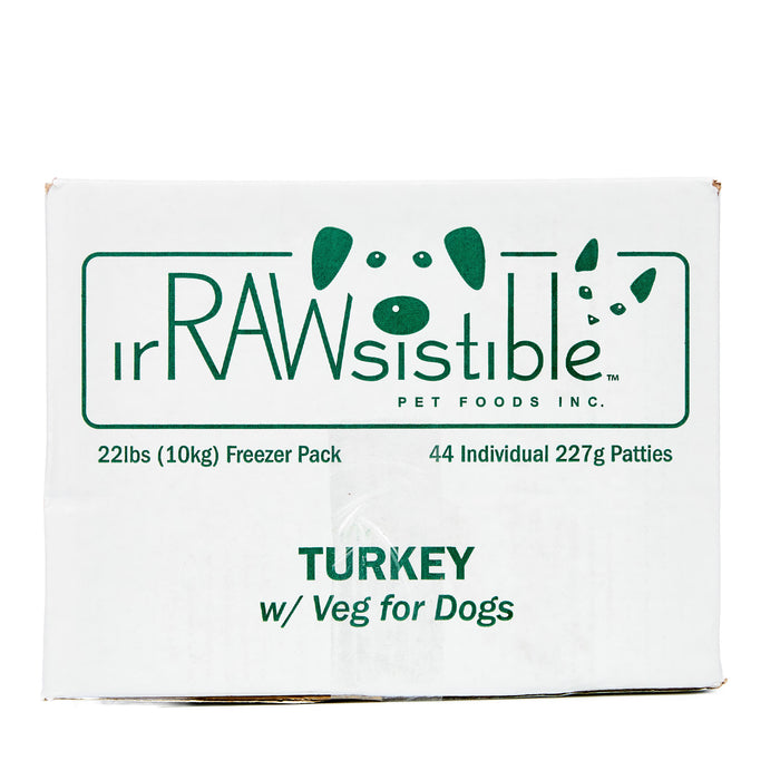 Bone-In Turkey Patties for Dogs (10kg Freezer Pack Box)