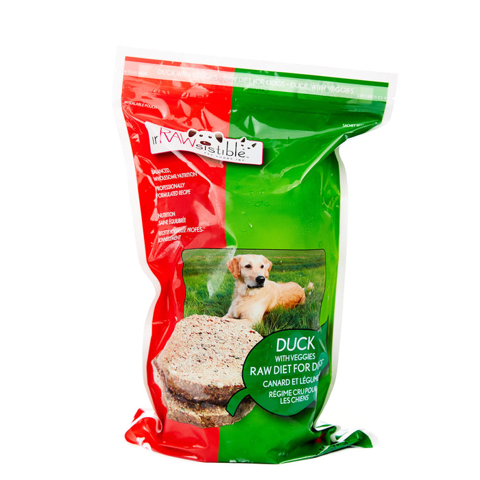 227g Boneless Duck Patties for Dogs (Sleeve Pouch)