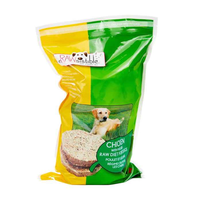 227g Boneless Chicken Patties for Dogs (Sleeve Pouch)