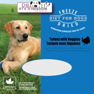 400g Freeze Dried Boneless Turkey Mini Patties for Dogs