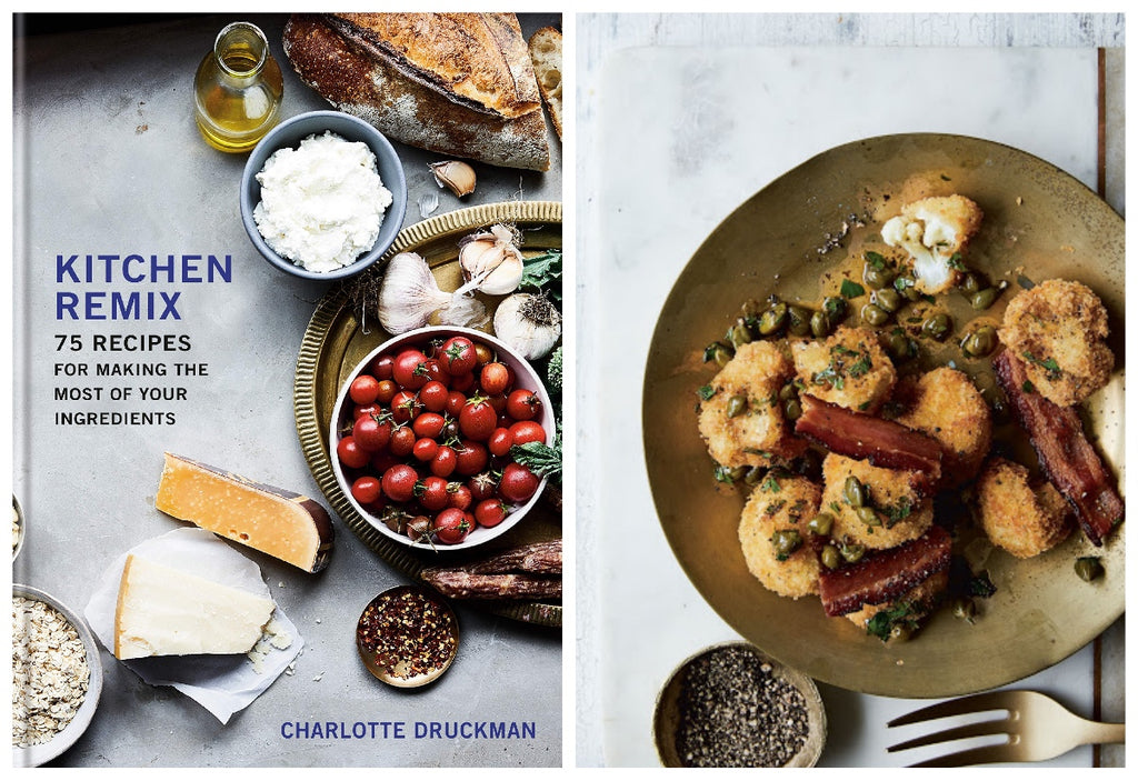 Make the most of your pantry and fridge with this fun and easy-to-use cookbook that turns groups of three ingredients into three distinct courses.   Whether you're buying food for the week or just a food lover who wants to explore new tastes, Kitchen Remix is the flexible handbook you'll constantly have open thanks to its 75 recipes that reimagine dinner.   Charlotte Druckman, an accomplished food writer and journalist, shows you how to combine—and re-combine—three base ingredients into a variety of distinct meals: goat cheese, strawberries, and balsamic vinegar turn into Goat Cheese Salad, Strawberry-Chevre Parfaits, and Strawberry Shortcakes. Squid, cornmeal, and peppers are the key players in Hoecake, Cornmeal-Crusted Calamari, and Saucy Peppers, Polenta & Boiled Squid. Meanwhile, Curry-Roasted Carrots, Carrot Upside-Down Cake, and Thai-ish Carrot Salad are all within easy reach when you begin with carrots, cashews, and coconut.   With trendy recipes and exciting twists, this book makes cooking simple and fun with easy-to-follow recipes and a manageable pantry section for home cooks of all skill levels. Along the way you'll also learn techniques such as braising, poaching, and oven-frying. It's a flavor guide for the food curious that will grow with you in the kitchen.