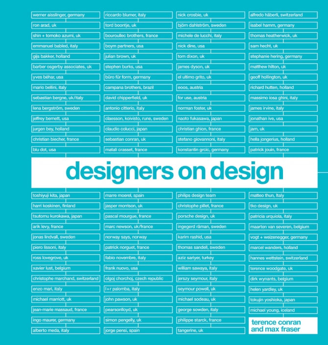 Designer On Design by Max Fraser & Terence Conran