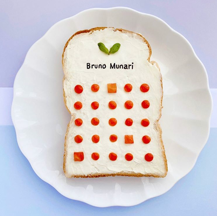 Bruno Munari Italian Artist and Designer on Toast by Manami Sasaki