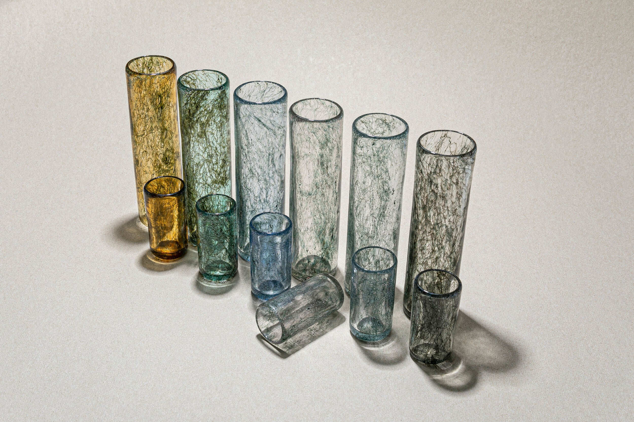 """Tasting Threads"" Long Drinking Glass, Murano Tableware"