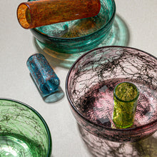 "Load image into Gallery viewer, ""Tasting Threads"" Small Drinking Glass, Murano Tableware"