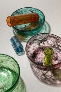 """Tasting Threads"" Small Drinking Glass, Murano Tableware"