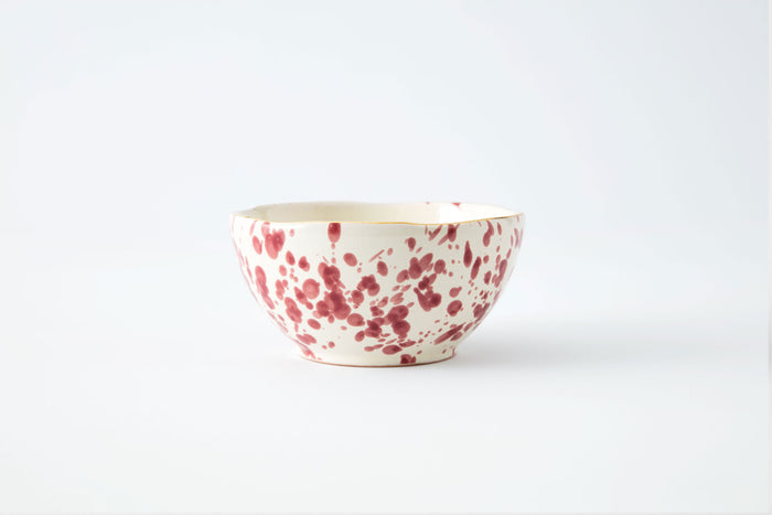 Pink Splattered Bowl