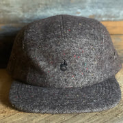 Insignia Tweed Flat Bill Cap - Brown