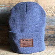 Anothen Leather Label Beanie