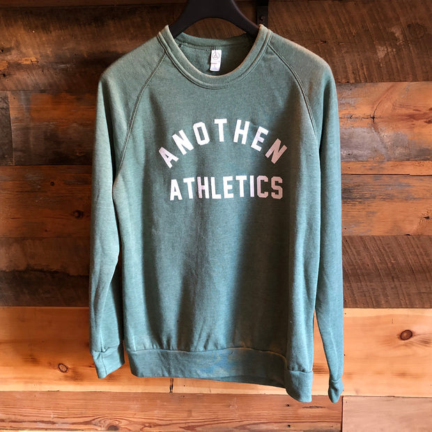 Limited Edition Anothen Athletics Crew Top - Dusty Pine