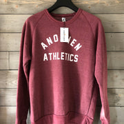 Limited Edition Anothen Athletics Crew Top - Currant