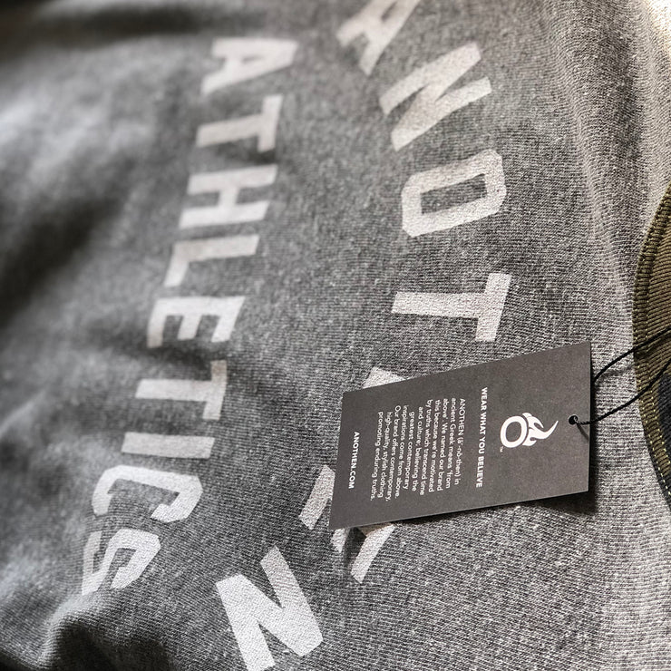 Limited Edition Anothen Athletics Crew Top - Grey/Camo