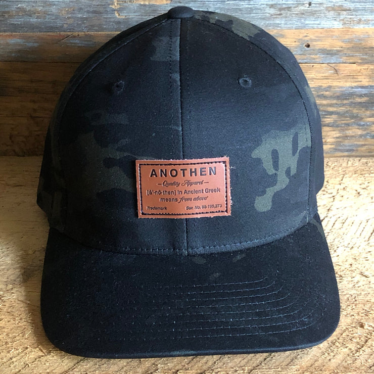 Anothen Leather Label Cap