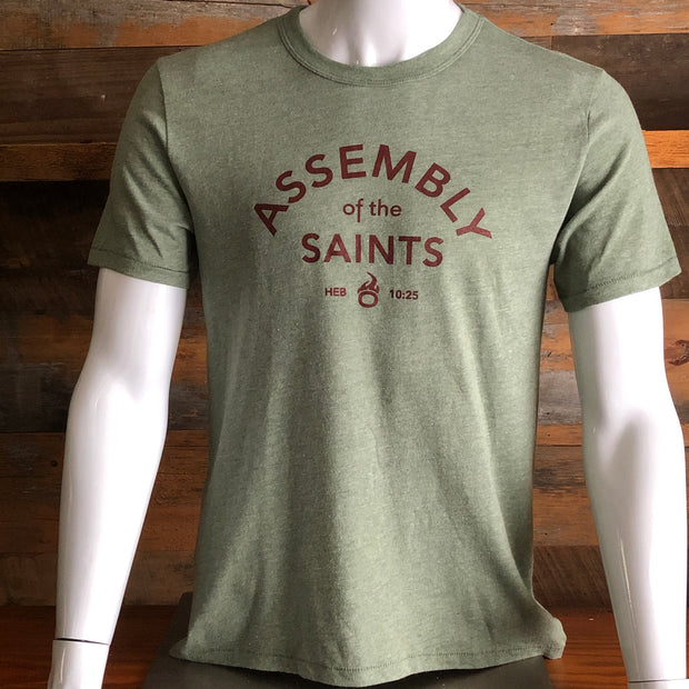 Assembly of the Saints Crewneck T-Shirt - 'Soft-Knit'