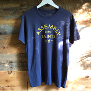 Assembly of the Saints 'Soft-Knit' Crew T-Shirt - Indigo Blue w/ Gold logo