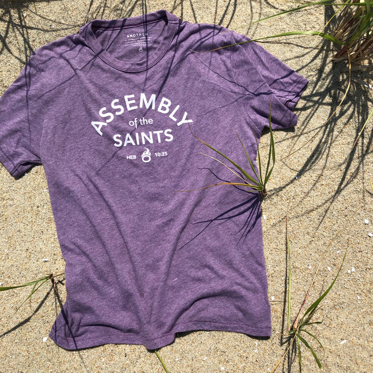 Assembly of the Saints - Summer Heather Soft-Knit Tee - Purple