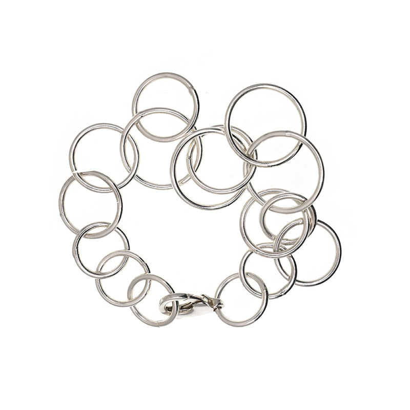 Bracelet with Circle, silver