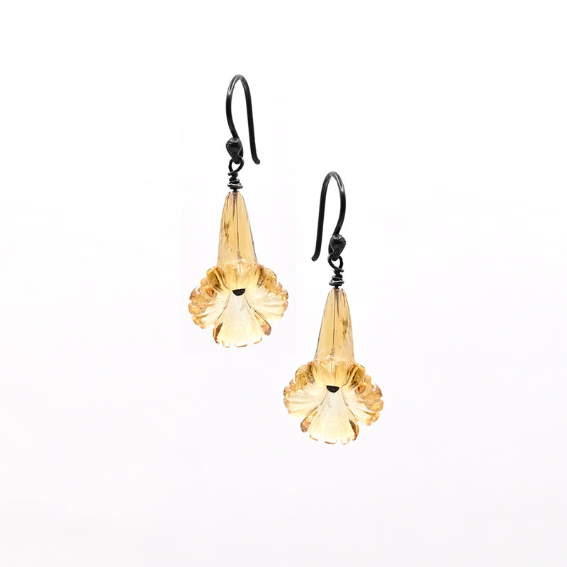 Earrings Flower set Citrine