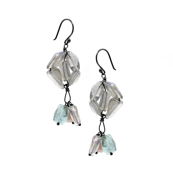 Earrings labradorite Mix