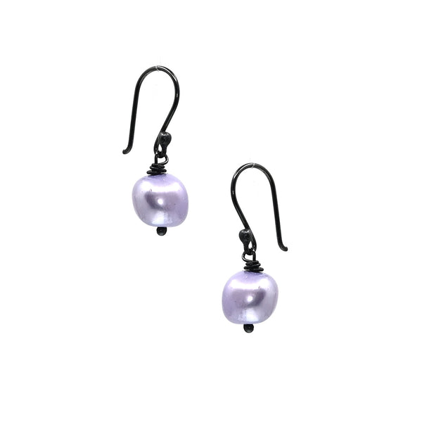 Earrings Pearl Light Purple