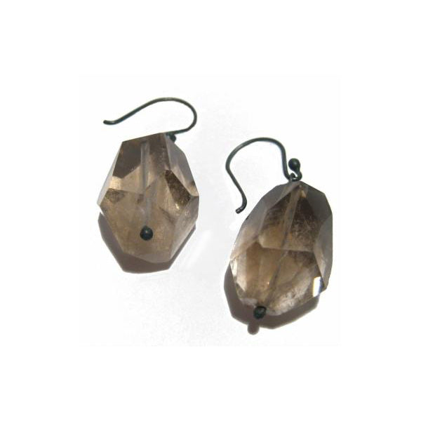 Earrings Bumling Smoky Quartz