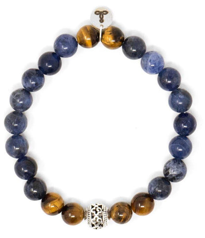 Sodalite and Tiger Eye Malas Beads Bracelet