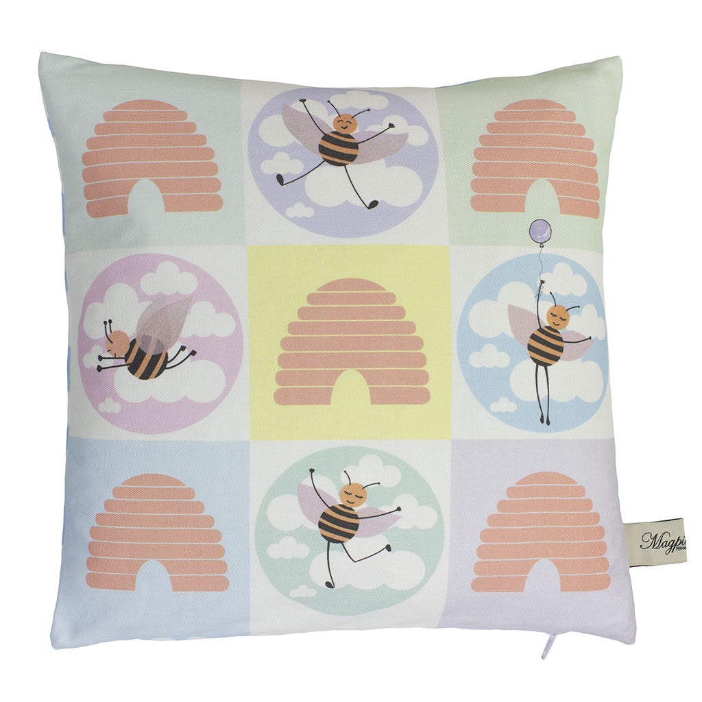 Beehive Check Cushion