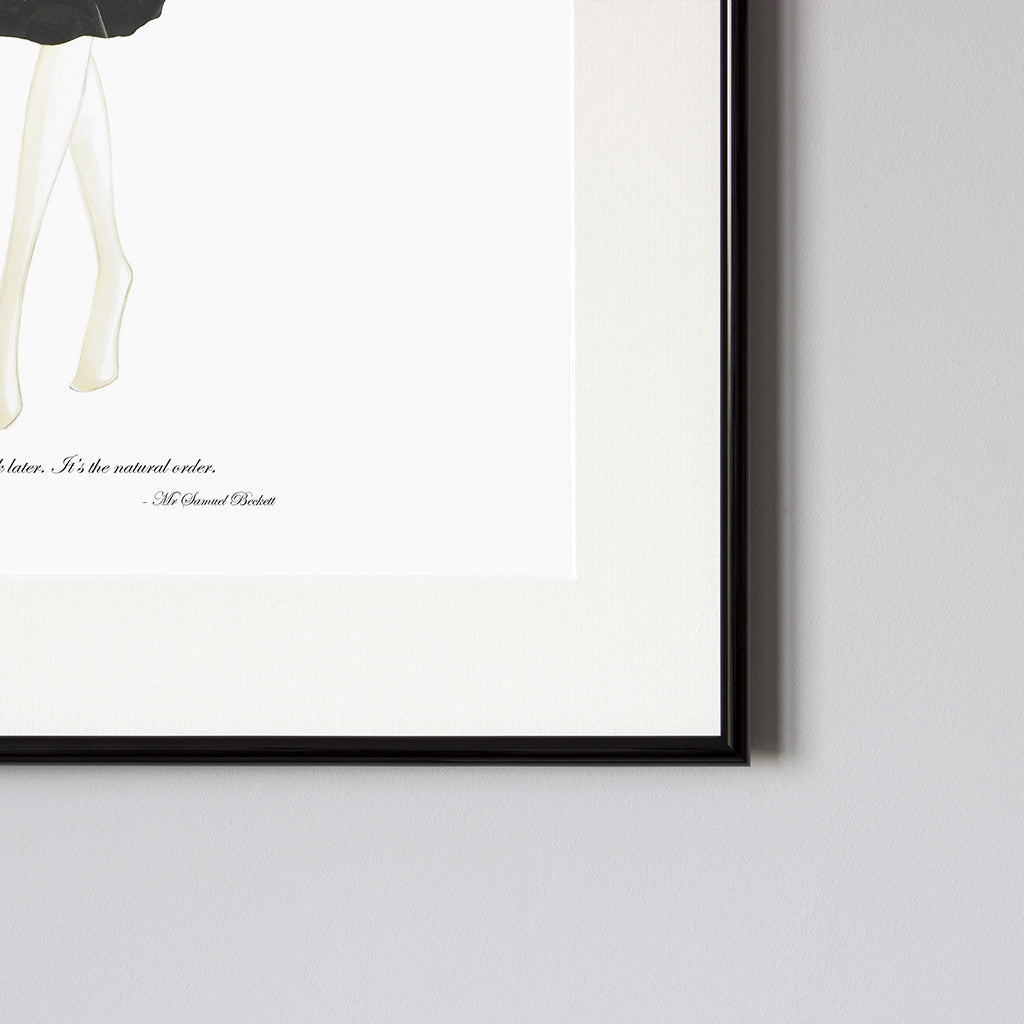 Beckett - Framed Print