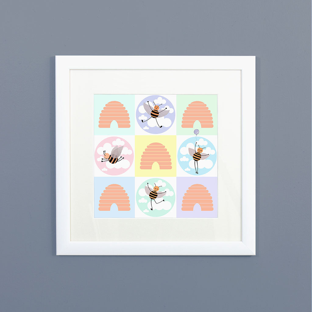 Beehive Check Framed Print