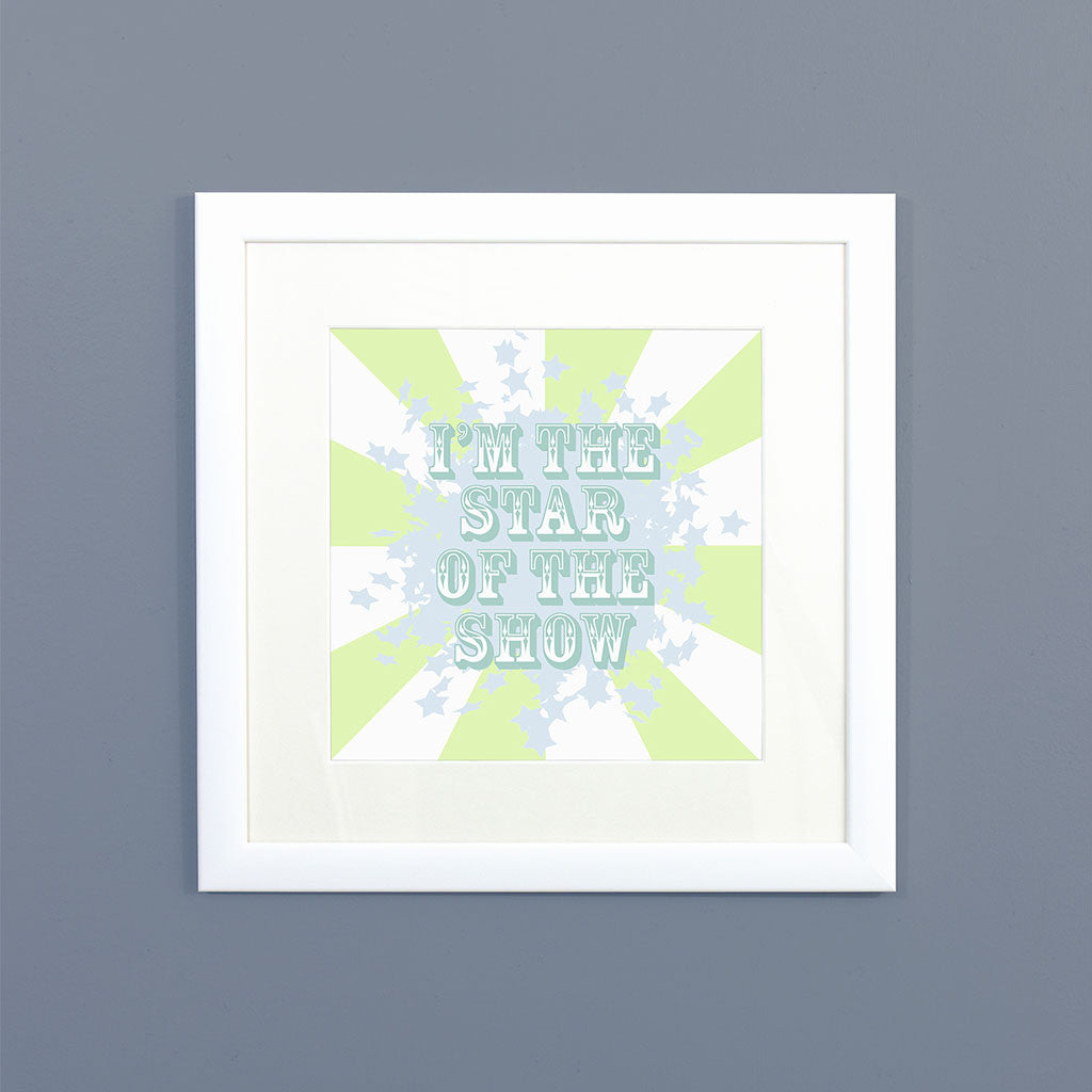 Circus (Lime) Framed Print
