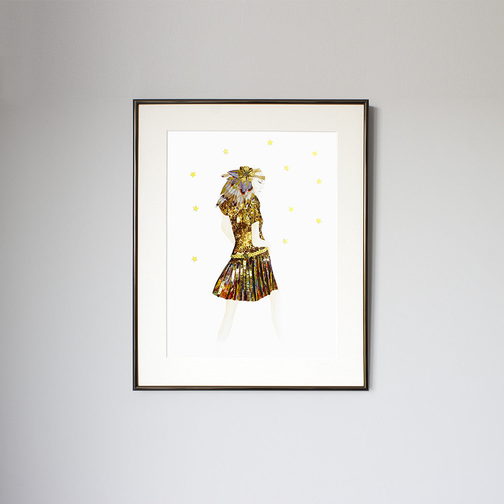 Gold Cabaret - Framed Print