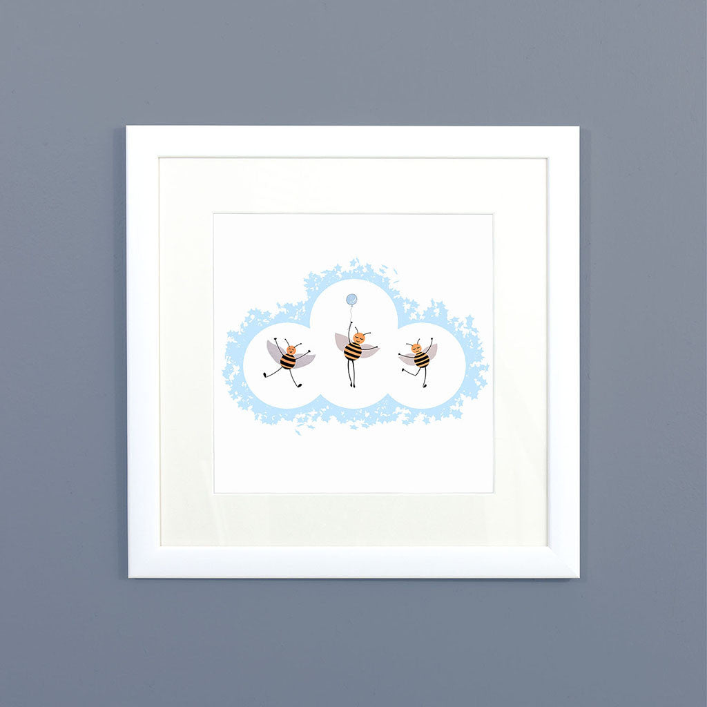 Nursery Bees Framed Print