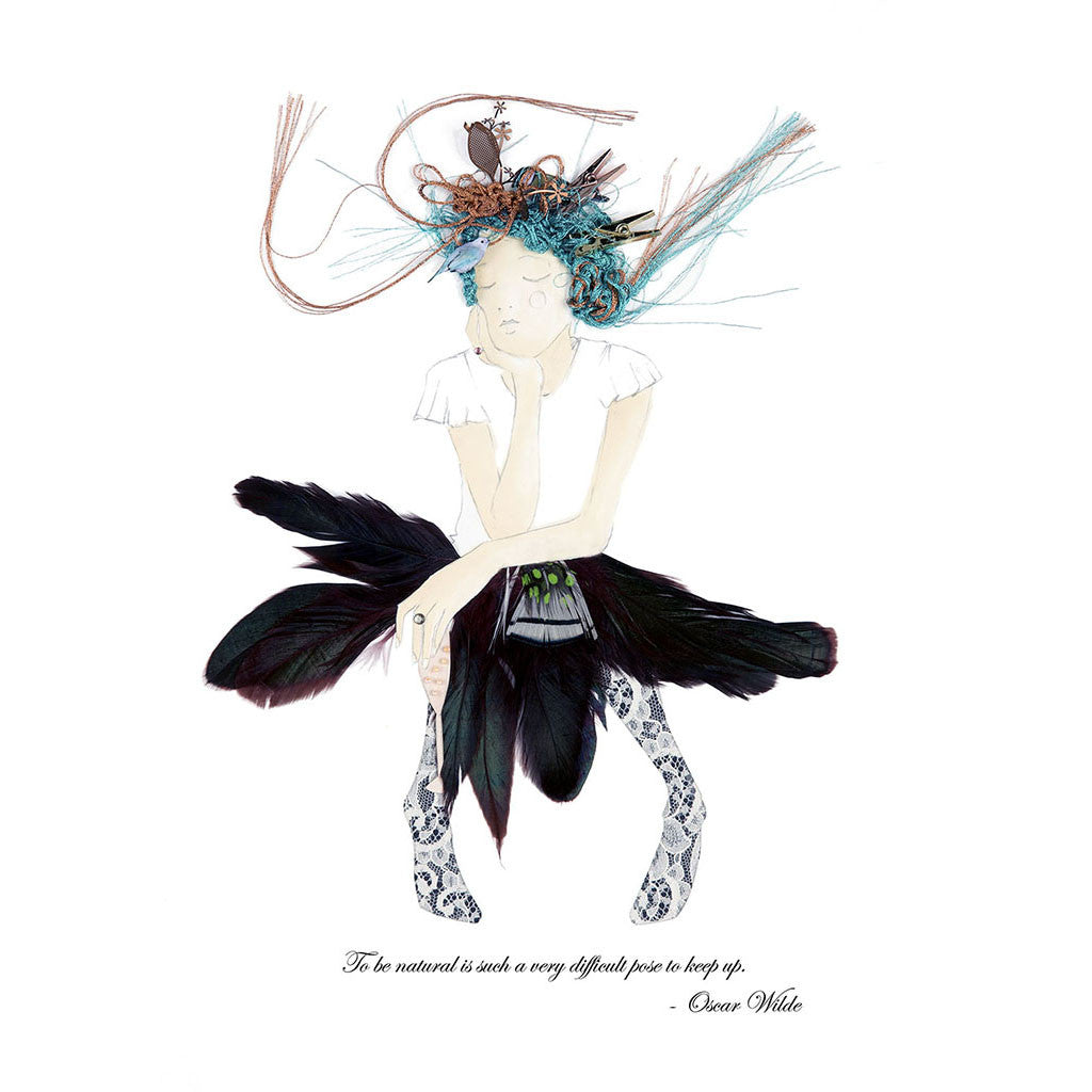 Magpie Belle Oscar illustration in print box