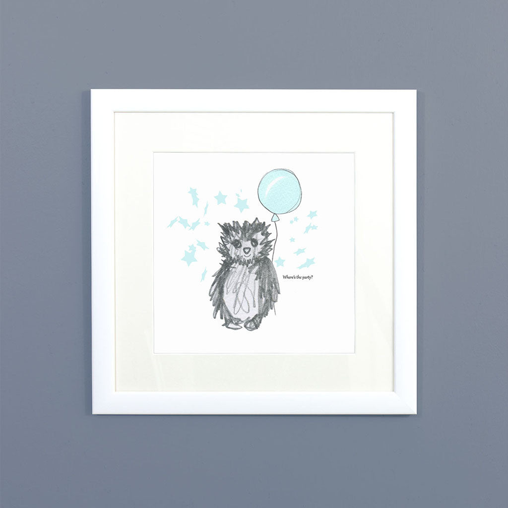 Party Owl Framed Print