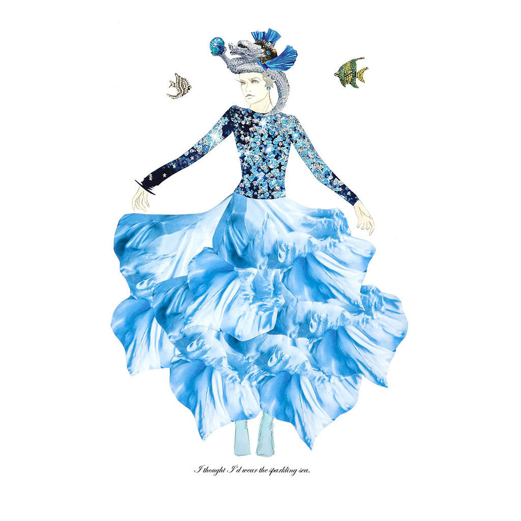 Magpie Belle Seafarer Illustration Print