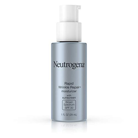 Neutrogena Rapid Wrinkle Repair Daily Hyaluronic Acid Retinol Face Moisturizer, Anti Wrinkle Face Cream &Amp; Neck Cream With Spf 30 Sunscreen - Hyaluronic Acid, Retinol &Amp; Glycerin With Spf 30, 1 Fl. Oz