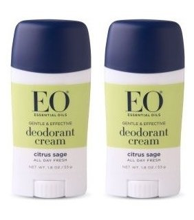 Eo Deodorant Cream Citrus Sage  With Cassava Root, Baking Soda, Coacoa Seed Butter, Vitamin E, Tapioca, Lemon, Flower Extract, Lavender, Orange, Lime, Sage And Cedar, 1.8 Oz. Each